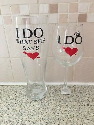 Wedding Gifts For Bride And Groom His & Hers Glasses Set