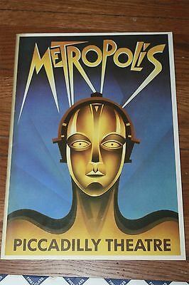 ORIGINAL METROPOLIS stage play English program '89  Fritz Lang's movie