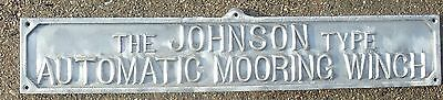 The Johnson Type Automatic Mooring Winch Metal Sign