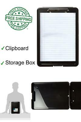 Plastic Storage Slim Clipboard Box Portable Medical Letter Case Office 13.3X9.5
