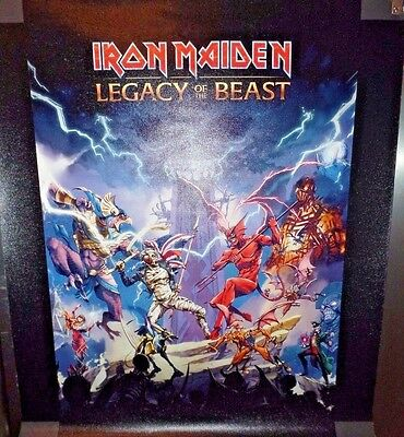 Iron Maiden Legacy Of The Beast Eternity Founders Pack Ltd Ed Giclee On Canvas