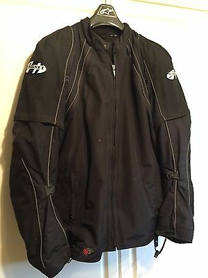 """Joe Rocket Black """"Alter Ego"""" All In One Motorcycle Riding Jacket /pants Combo !!"""