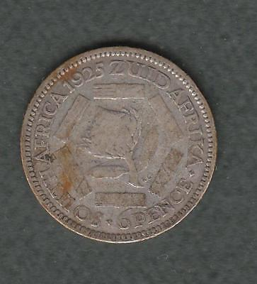 1925 South Africa 6 pence, silver
