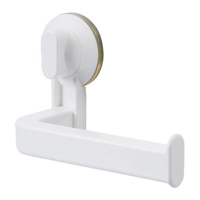 Toilet Paper Roll Holder With Suction Cup White STUGVI Non Screw IKEA Brand New