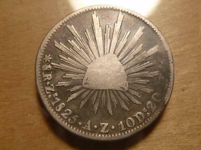 Mexico 1825 Az, 8 Reales, Blundered 8 Variety Circulated Condition..SKU#1266