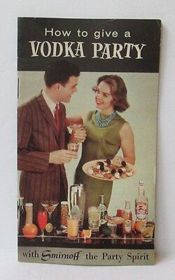 Vintage Smirnoff How To Give A Vodka Party Recipe Brochure Booklet