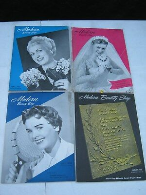 4 Issues - Modern Beauty Shop Magazine - 1953  -May-Aug - Hair Style, Fashion,