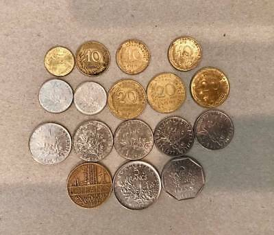 Lot of French France Coins 1960-1990