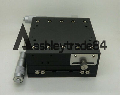 57.5mm Thick Stage Manual Slide Table V-Type Trimming platform 125*125mm XY-Axis