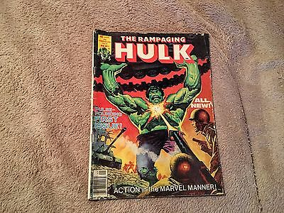 The Rampaging Hulk Comic Book Magazine #1 January 1977 Stan Lee Marvel