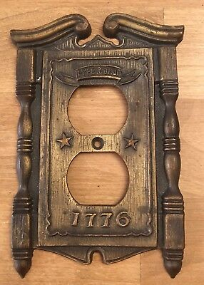 American Tack HDWE Co Light Switch Cover Plate 1776 Fyfe Drum 1968 Vintage Metal