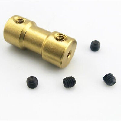 2/3/3.17/4/5mm Motor Copper Shaft Coupling Coupler Connector Sleeve Adapter UK