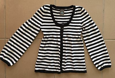Pumpkin Patch Black & White Striped Cardigan Size 9