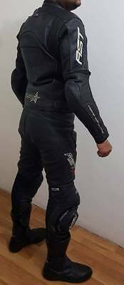 Mens two piece racing motorbike leather suit