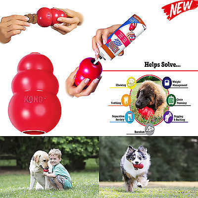 World's Best Dog Toy KONG Classic Rubber Chew Toy For Dogs Stuffing Treats Sizes