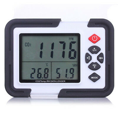 9999ppm LCD CO2 Carbon Dioxide DataLogger Monitor Air Temperature Humidity Meter