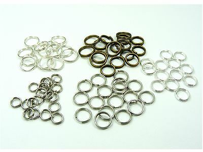100 x Double LOOP JUMP RINGS CONNECTOR Findings for DIY Craft Making 4mm - 14mm
