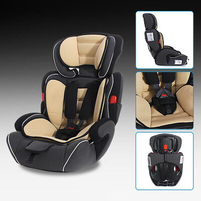 Brown Convertible Baby Kid Children Child Car Safety Seat & Booster For 9-36kg