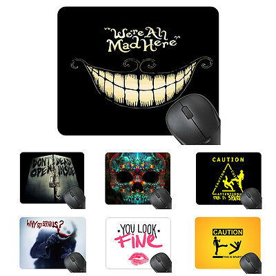 20*24 CM Funny Computer Mouse Pad 8 Patterns For Choose Durable Rubber Mouse Mat