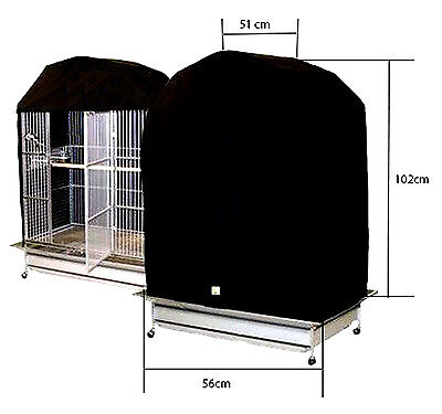 Bird Cage Cover - 51cm x 102cm x 56cm High Quality with Velcro Front Fastening