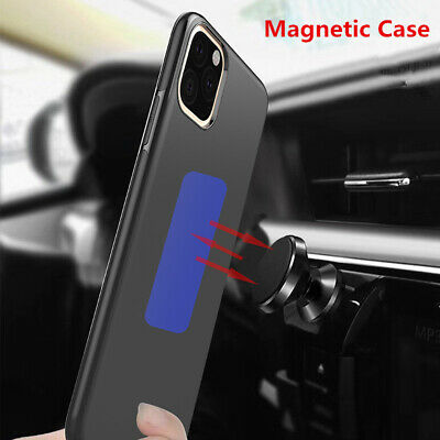 Metal Plate Car Holder Magnetic TPU Back Case For iPhone XS Max XR 8 7 6S PLUS
