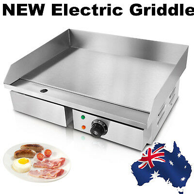 3000W Stainless Steel Electric Griddle Plate BBQ Hot Grill Plate Meat Commercial