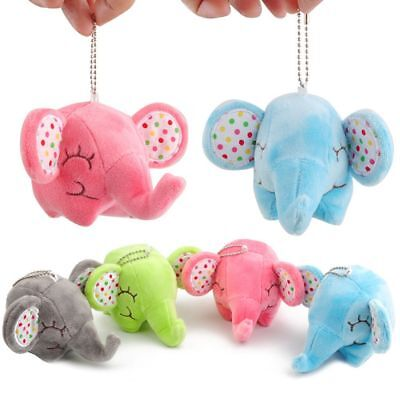 Stuffed Toy Plush Lovely Small Floral Elephant Car Room Pendant Bouquet Toys