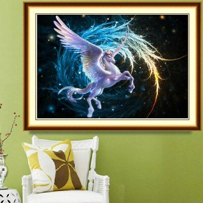 Fly Horse 5D Round Diamond DIY Full Embroidery Cross Stitch Painting Home Decor