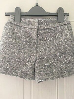 Girls Tailored Sequin Shorts Age 6/7