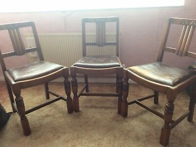 Vintage 1940s/1950s Wooden Dining Chairs