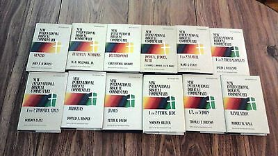 Lot of 12 books in New Internaional Biblical Commentary series, hard cover