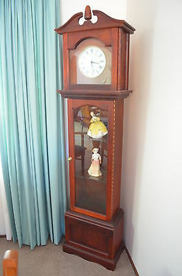Grandfather/grandmother Clock With Glass Display Cabinet.