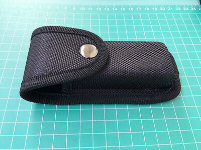 NEW High Quality Black Nylon Sheath For Folding Pocket Knife Super Pouch Button