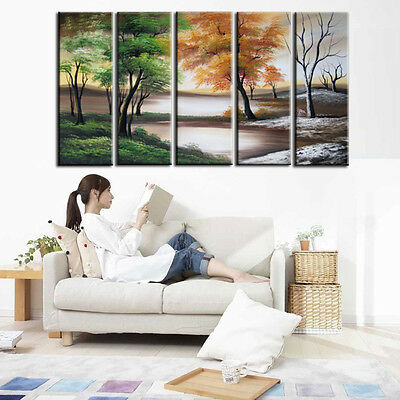 Hand-Painted On Canvas Modern Scenery Wall Art Oil Painting Home Decor No Frame