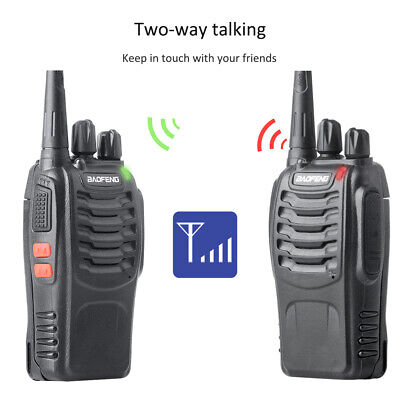 BAOFENG Ham Walkie Talkie UV-5R VHF/UHF Portable Police Fire Transceiver Scanner