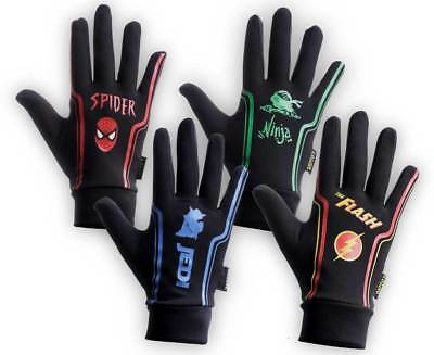 Rugby Themed Long Fingered Mini/Junior Thermal Silicon Grip Gloves/Stick Mitts