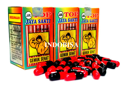 Weight Gain Increased Appetite Herbal Natural GEMUK SEHAT Capsule Proven Herbs