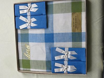Vintage Irish Linen tablecloth  boxed