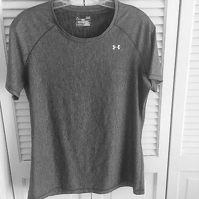Under Armour Fitted Women's Gray  Short Sleeve T-shirt Size L