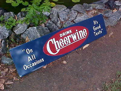 Cheerwine Soda Bench Sign Embossed 11 x 48