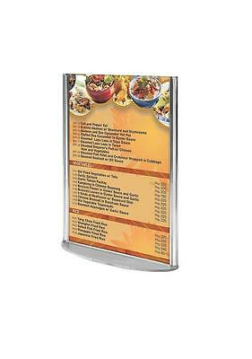 4″w x 6″h Oval Based Clear Acrylic Leaflet & Sign Holder
