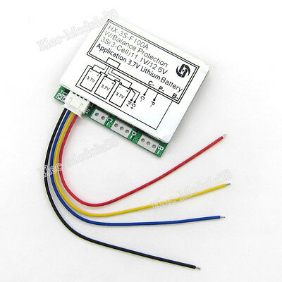 3S 100A 11.1V 12V Li-ion Lithium 18650 Battery BMS PCB Protection Balance Board