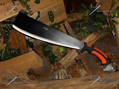 Heavy machete/Cleaver/Sword/Bowie/Full tang//Combat/Survival/Rubber grip