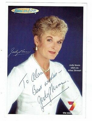 Judy Nunn Actress Home and Away Hand Signed Vintage Channel 7 Photograph 8 x 6