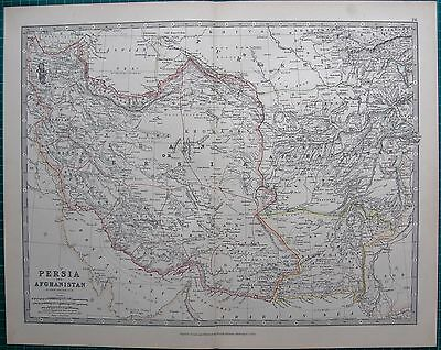 1880 Antique Map - Persia And Afghanistan
