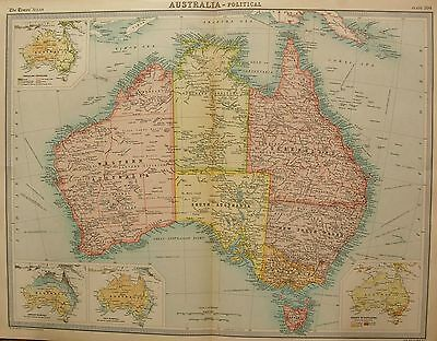 1920  Large  Map : Australia, Political Map