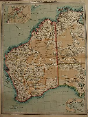 1920  Large  Map : Australia Western Section