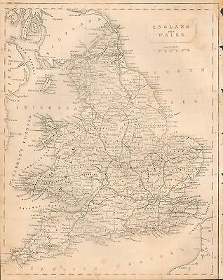 1850 Ca ANTIQUE MAP- ENGLAND AND WALES