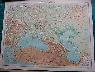 1922 Large Antique Map- Southern Russia