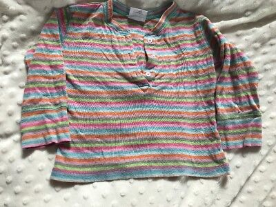 Baby Girl Striped Long Sleeve Tshirt, 9-12 Months, Next